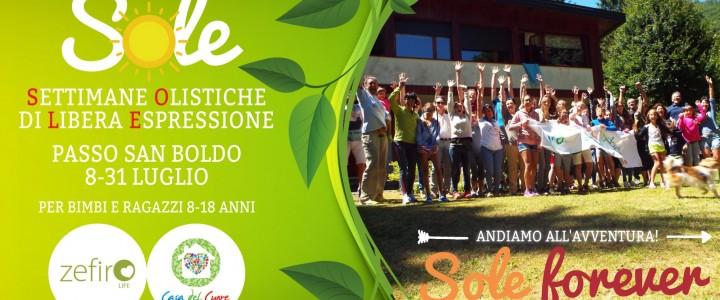 SOLE, Settimane Olistiche per Bambini e Ragazzi 8-18 anni Passo San Boldo